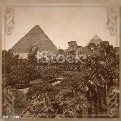 Cairo, Giza. View to the Pyramid wihch is one of the 7 Wonders of the World.