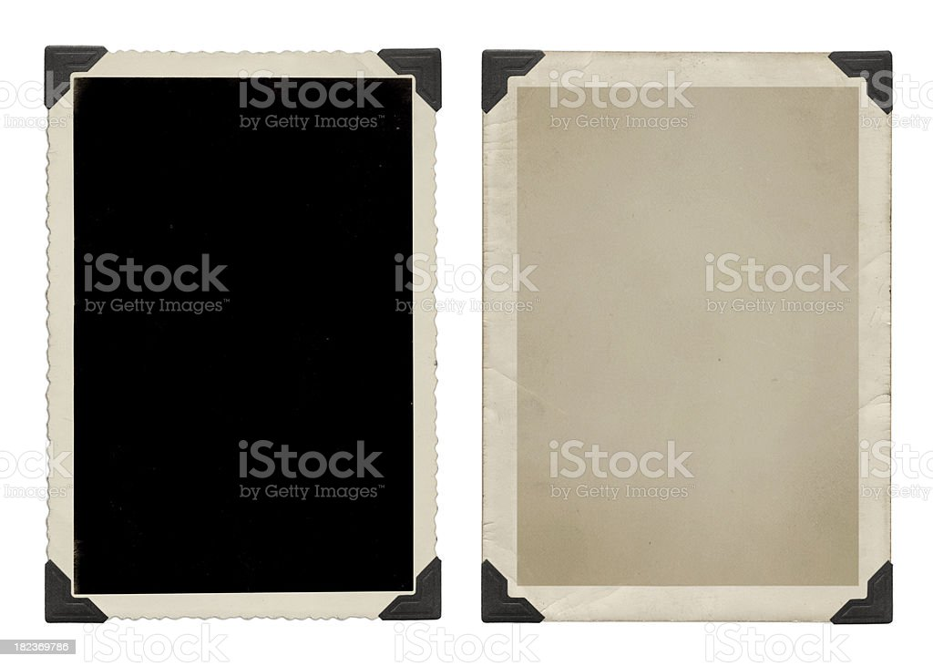 Vintage pictures with black corners stock photo