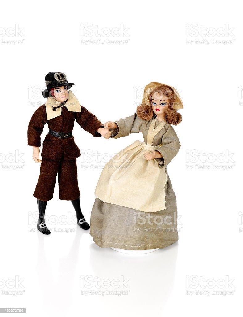 Vintage Pilgrim Dolls stock photo