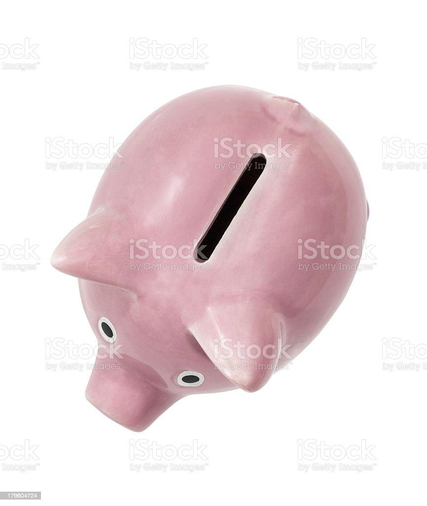 Pig coin bank. Vintage Piggy Bank Pink pig
