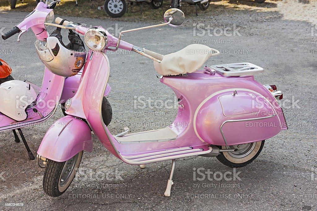 vintage pink Vespa royalty-free stock photo