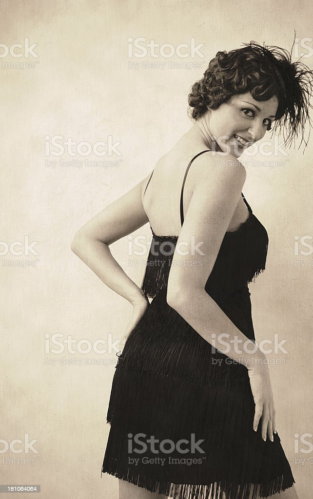 vintage pinup girl royalty-free stock photo