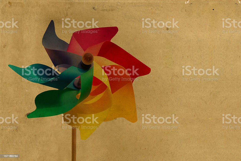 vintage pinwheel postcard royalty-free stock photo