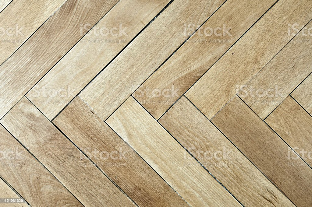 Vintage plain wooden parquet floor
