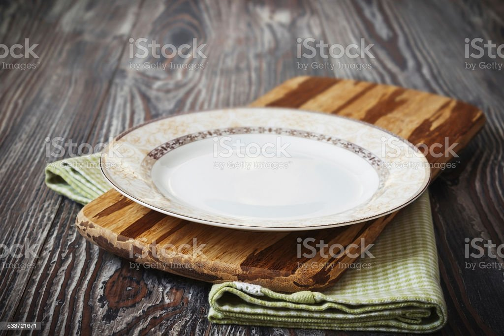 vintage plate stock photo