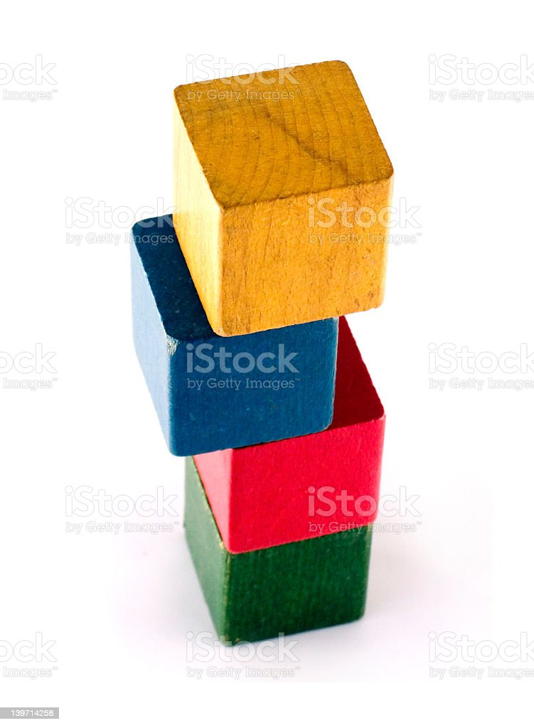 Vintage play blocks royalty-free stock photo