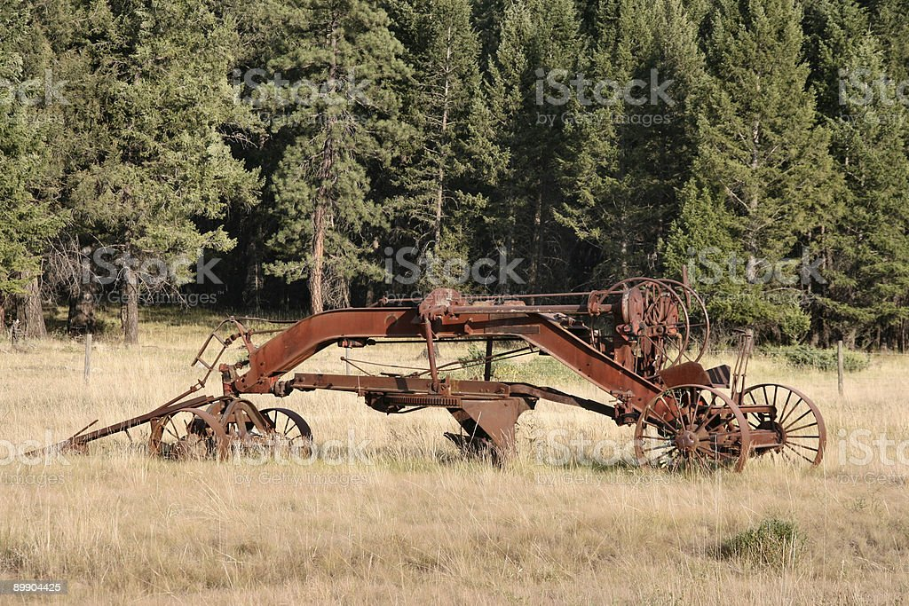 Vintage plow royalty-free stock photo