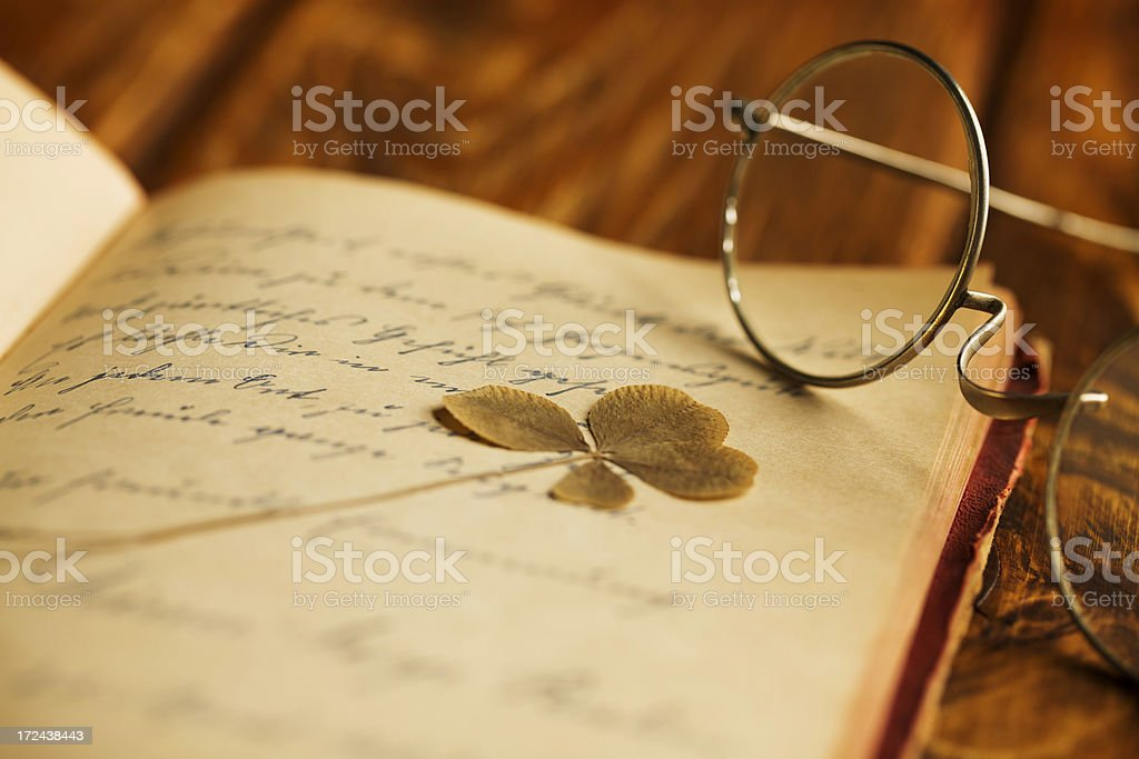 Vintage Poetry and eyeglasses royalty-free stock photo