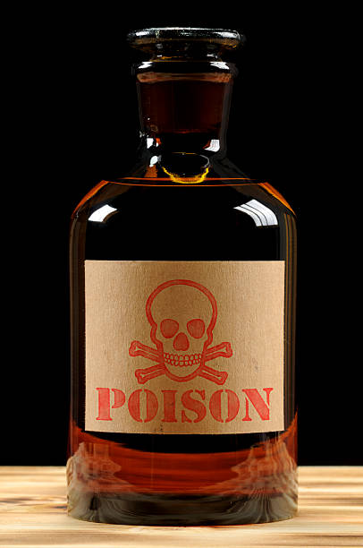 Vintage Poison Bottle stock photo