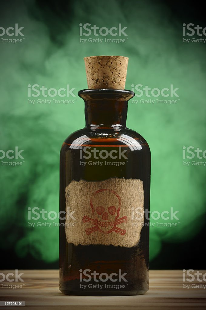 Vintage Poison Bottle stock photo