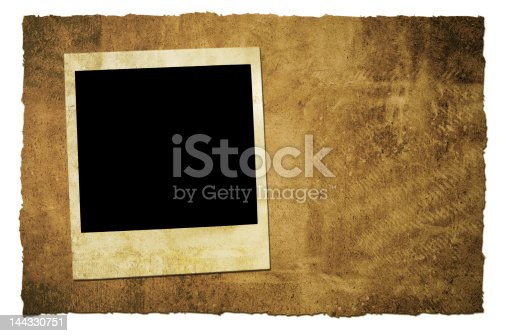 144325206 istock photo Vintage Polaroid and paper 144330751