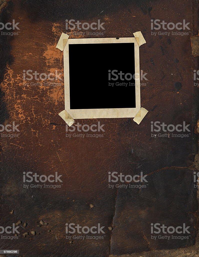 Vintage Polaroid on Leather royalty-free stock photo