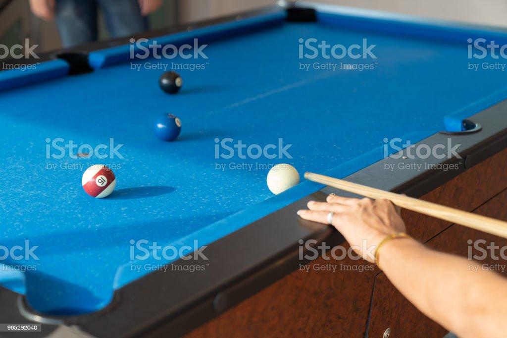 Vintage pool ball. royalty-free stock photo