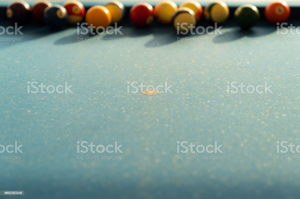 Vintage pool ball. zbiór zdjęć royalty-free