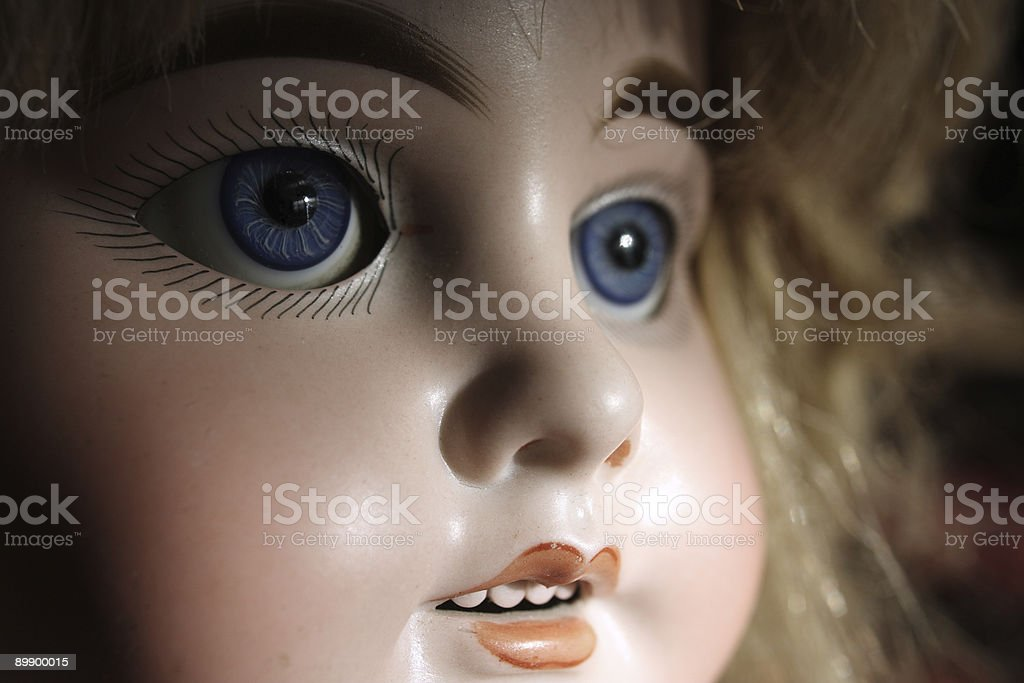 Vintage porcelain doll royalty-free stock photo
