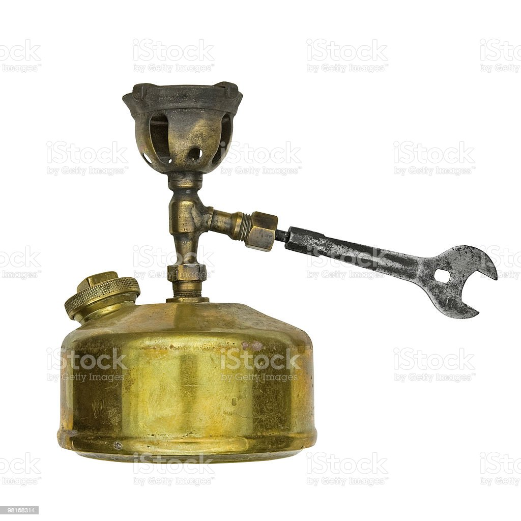 vintage portable camp stove royalty-free stock photo