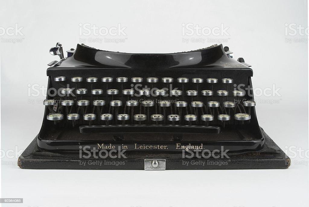 Vintage Portable Manual Typewriter royalty-free stock photo