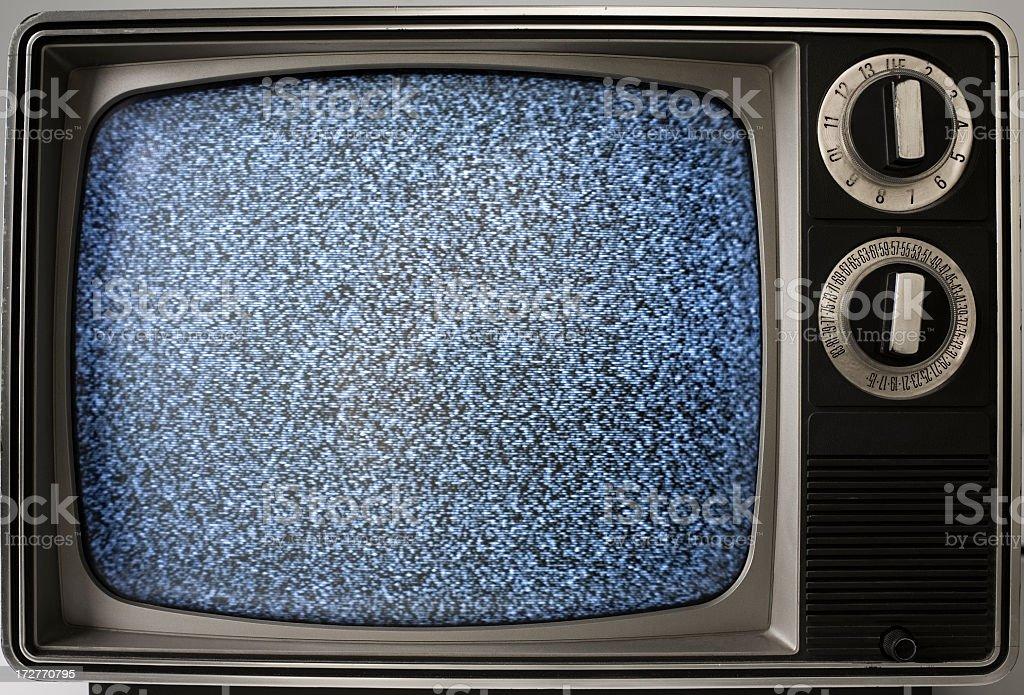 vintage portable television stock photo