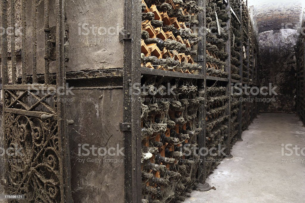 Vintage Porto wine cellar royalty-free stock photo