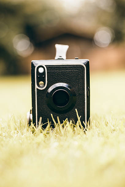 Vintage Portrait Camera stock photo