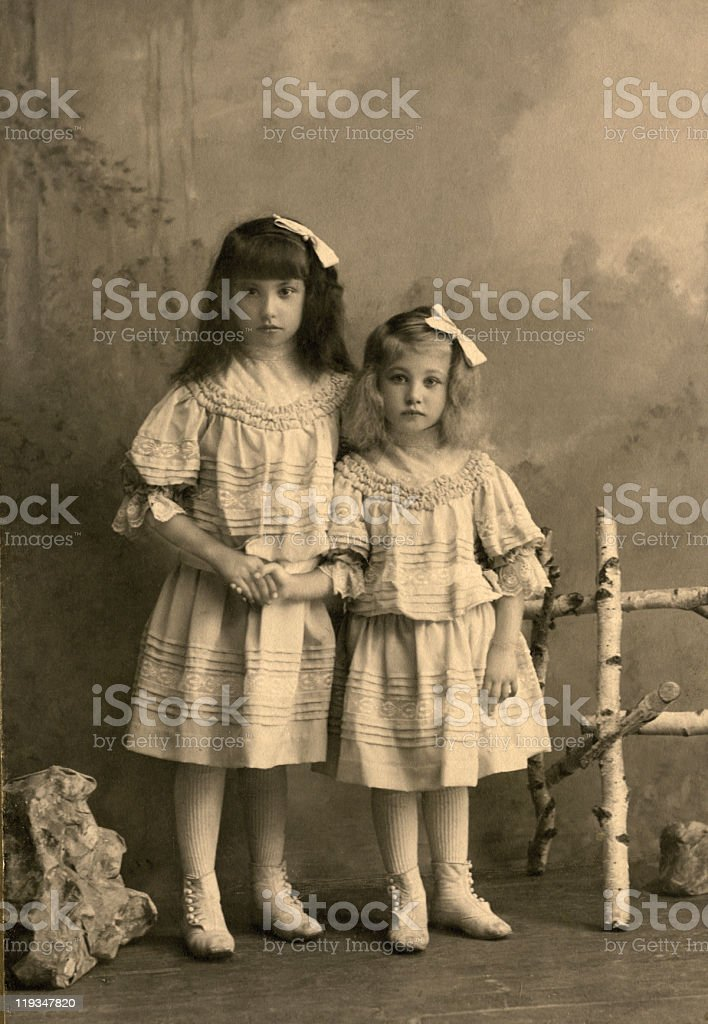 Vintage portrait. stock photo