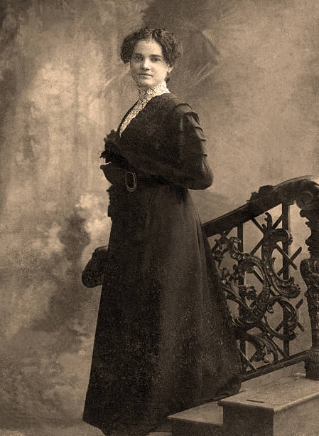 Vintage portrait.  edwardian style stock pictures, royalty-free photos & images