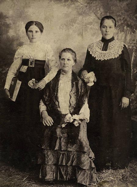 Vintage portrait stock photo