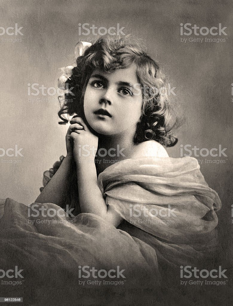 Vintage portrait. royalty-free stock photo