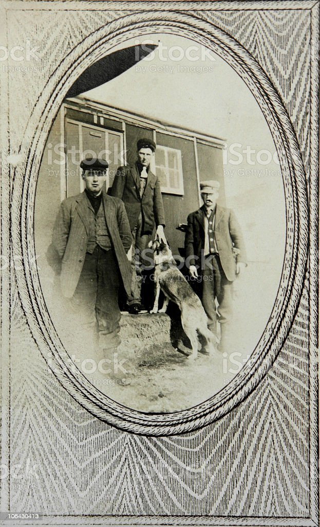 vintage portrait railroad workers  1880 Stock Photo