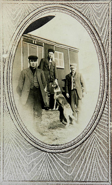 vintage portrait railroad workers  1890 stock pictures, royalty-free photos & images