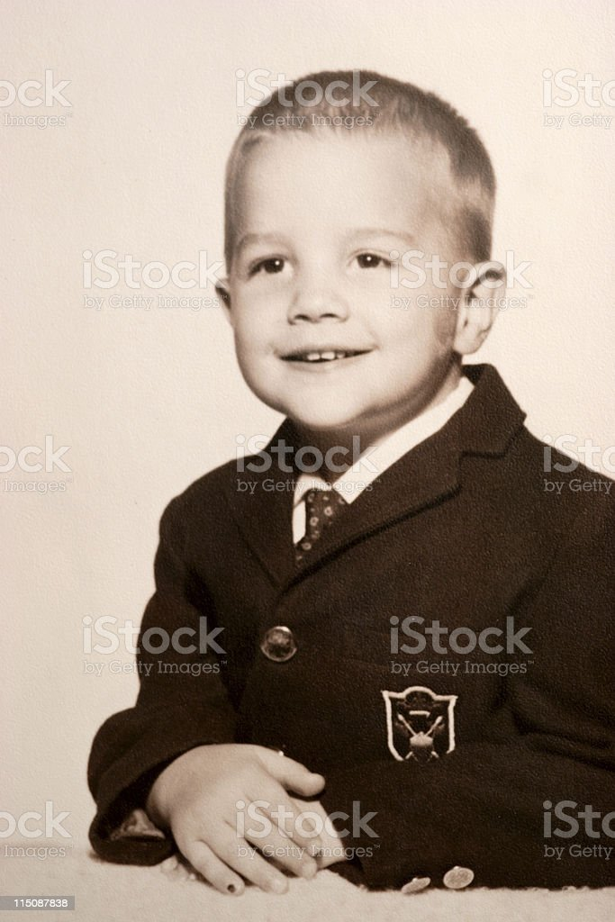 vintage portrait sixties boy child royalty-free stock photo