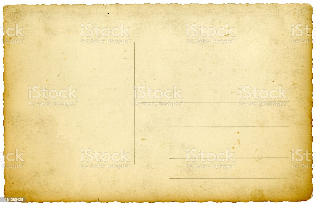 Vintage Post card 3. XXLarge royalty-free stock photo