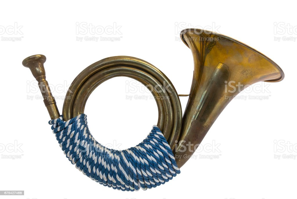 Vintage Post horn symbol stock photo