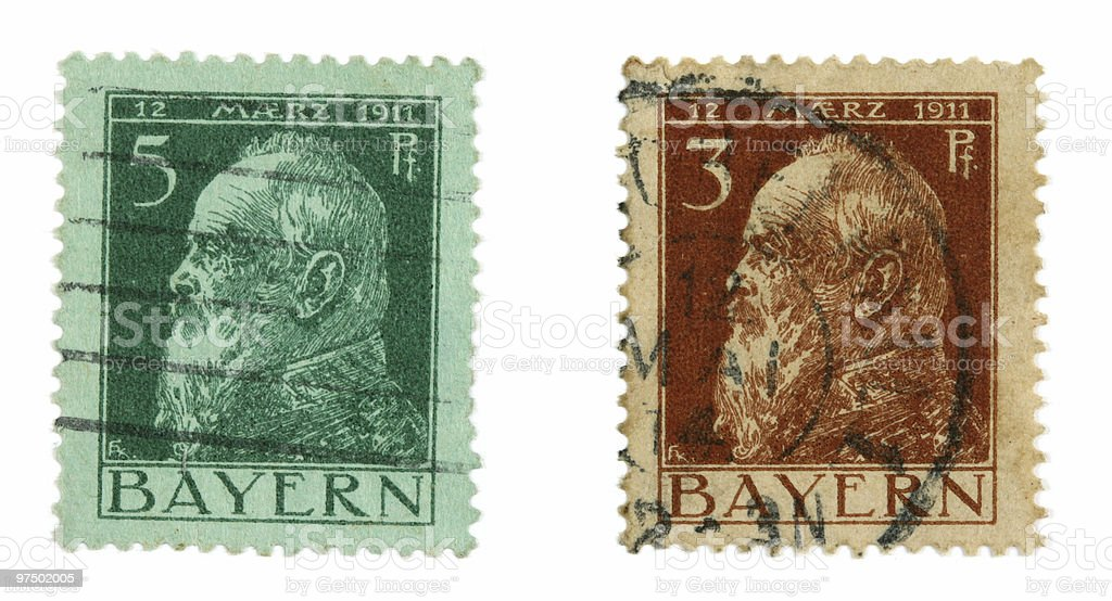 Vintage post stamps royalty-free stock photo