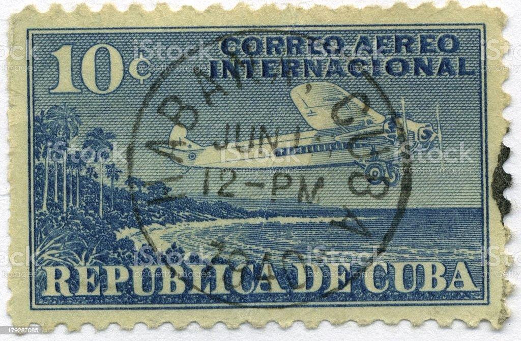 Vintage Postage Stamp Cuba World Ephemera royalty-free stock photo