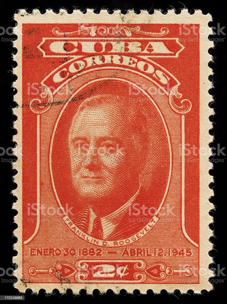 Vintage postage stamp from Cuba stock photo