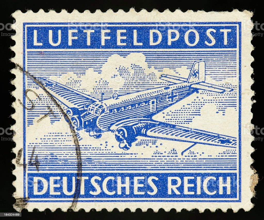Vintage postage stamp germany stock photo
