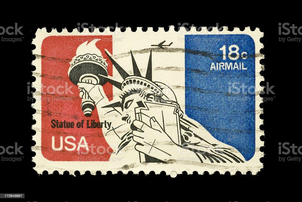 USA vintage postage stamp stock photo