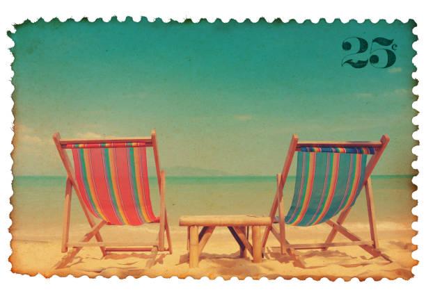 Vintage postage stamp stock photo