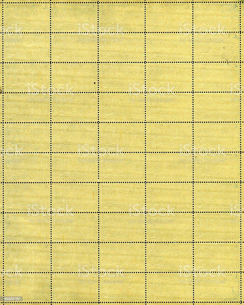 vintage postage stamp sheet royalty-free stock photo