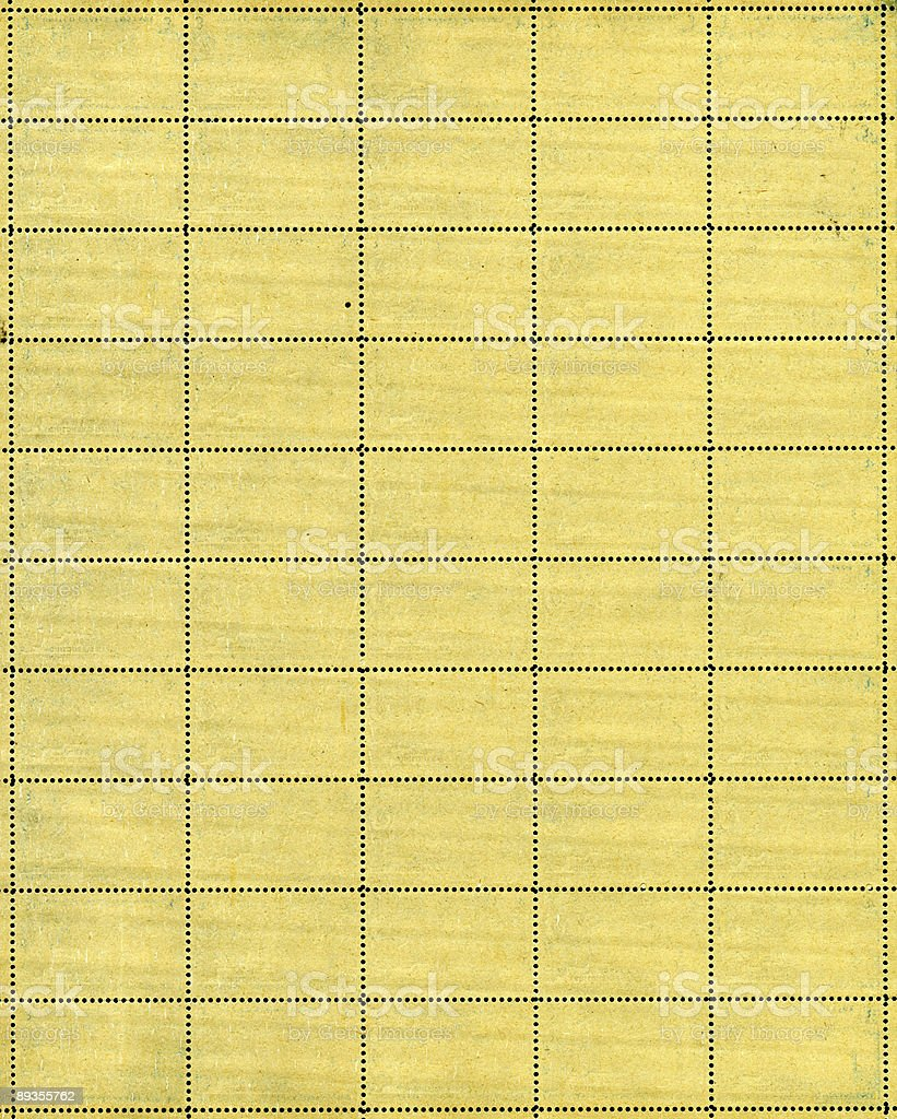 vintage postage stamp sheet stock photo