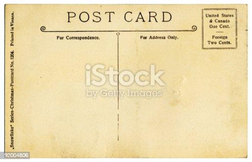 istock Vintage Postcard Back 92004806