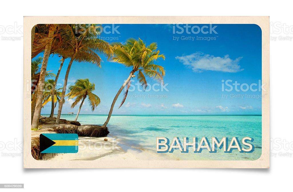 Vintage postcard: Bahamas Islands, Caribbean stock photo