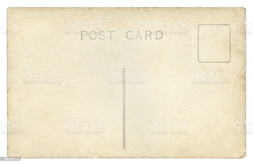 Vintage Postcard isolated (clipping path included) royalty-free stock photo