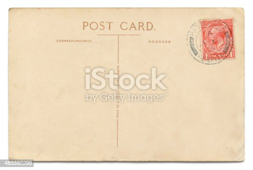 Vintage, empty postcard with a One Penny George V stamp, cancelled in Patterdale (English Lake District), 1 Aug 1929. The postcard carries the phrase