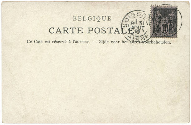 Vintage postcard sent from Soissons, Aisne in France in early 1900s, a very good background for any usage of the historic postcard communications. Vintage postcard sent from Soissons, Aisne in France in early 1900s, a very good background for any usage of the historic postcard communications. aisne stock pictures, royalty-free photos & images