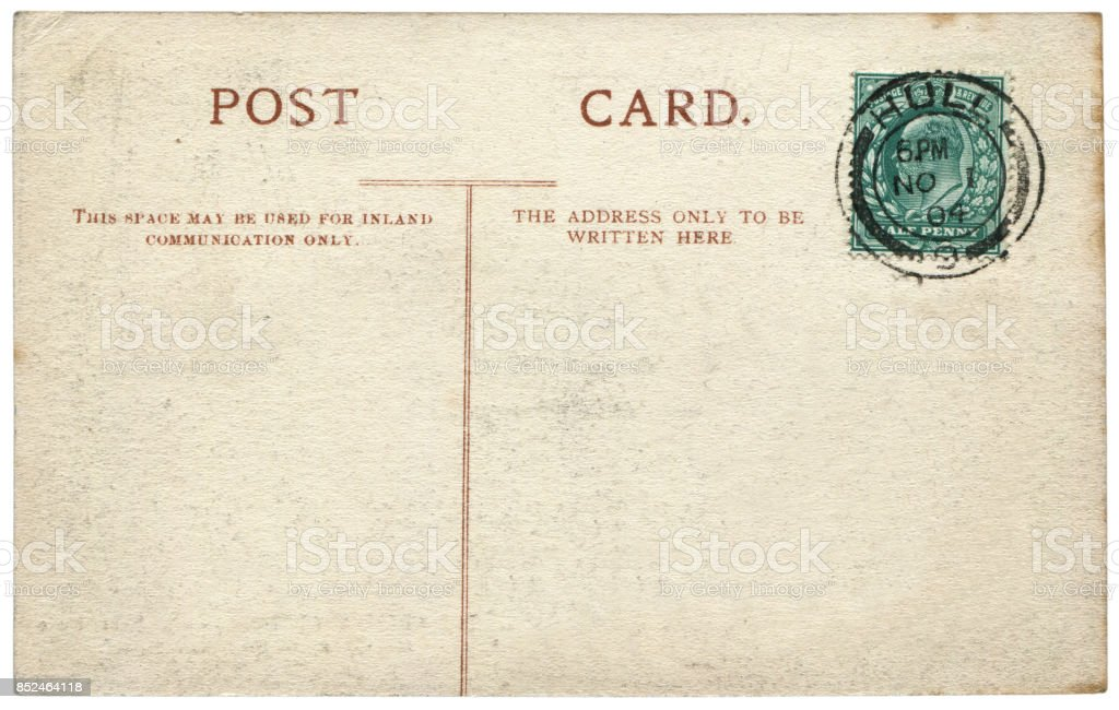 vintage postcard with blank content sent from hull uk in 1904 a very
