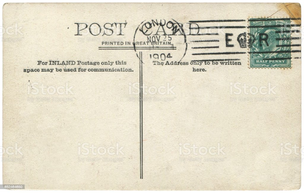 vintage postcard with blank content sent from london uk in 1904 a