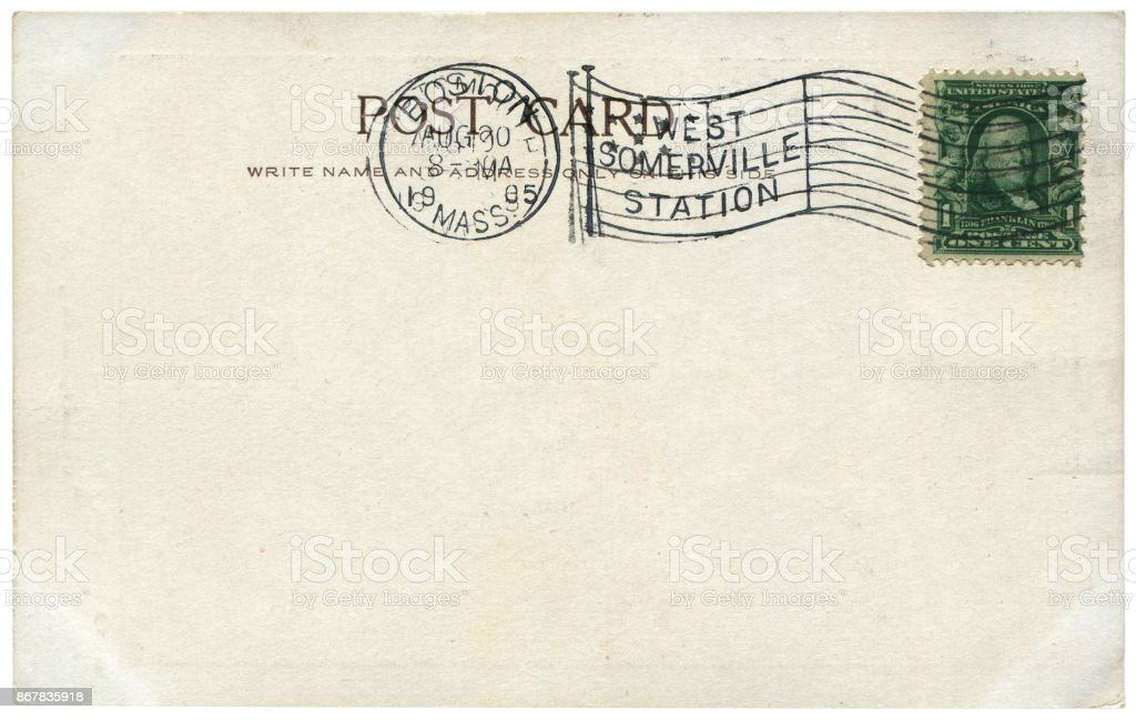 vintage postcard with blank content sent from portland usa