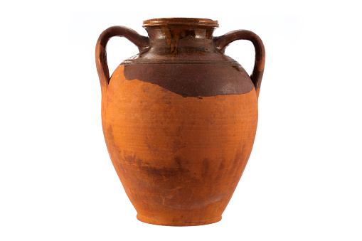 Antique pot isolated on a white background